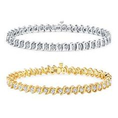 Shop for 14k Gold 3ct TDW Diamond Tennis Bracelet (J-K, I2-I3). Get free delivery at Overstock.com - Your Online Jewelry Destination! Get 5% in rewards with Club O!