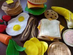The perfect accompanitment to a play kitchen--handmade toy food!  Starter Felt Food Set  Felt Play Food by LittlePicklepotamus, $65.00