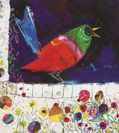 Red Robin singing vintage Brian Wildsmith by theStoryOfVintage Bird Illustration, Child Love, Book Characters, Vintage Prints, Nursery Decor, Illustrators, Singing, Birds, Colours