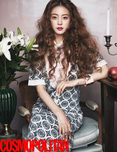 Korean Actress Han Ye Seul Cosmopolitan Magazine February 2016 Photos