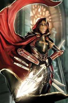 magdalena fcbd top cow by *nebezial on deviantART --- finally, a fantasy woman clad in realistic amounts of armour.