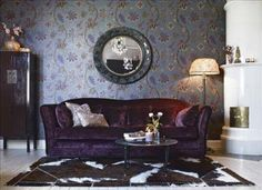 Purple apartment in Stockholm | haken's place