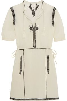 Shop on-sale Étoile Isabel Marant Rebel embroidered cotton mini dress. Browse other discount designer Dresses & more on The Most Fashionable Fashion Outlet, THE OUTNET.COM