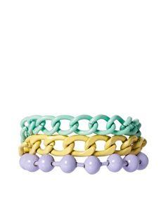ASOS Pastel Coated Mixed Chain Bracelet ($20-50) - Svpply