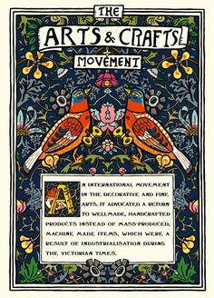 Art Movement Posters | Arts & Crafts Movement - Yunroo: Illustration