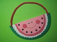 watermelon door hanger craft for letter Ww