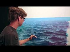 How To Paint Waves - Lesson 3 - Wet On Dry - YouTube #OilPaintingOcean #OilPaintingSeascape