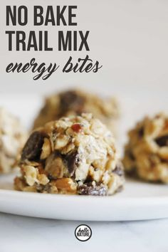 Need the perfect small snack to maintain your energy while you& on your adventures? You HAVE to try these No Bake Trail Mix Energy Bites! Trail Mix Recipes, Snack Recipes, Oats Recipes, Hiking Food, Hiking Tips, Camping Snacks, Camping Recipes, Healthy Snacks, Healthy Recipes