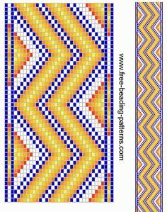 free beading patterns   free-beading-pattern-guitar-strap-yellow-zigzag