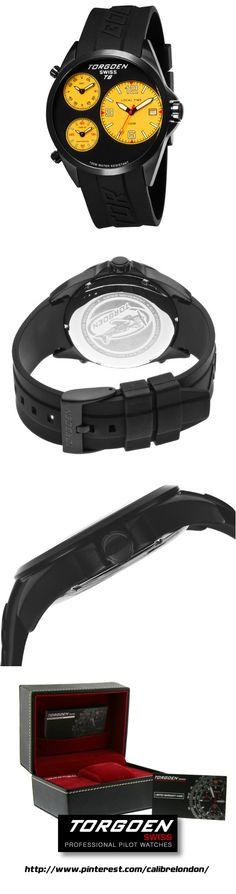 ff446bb2698 TORGOEN Swiss T08305 Men s 45.5mm Aviation Watch with Triple Time Zone and  Black PU Strap £345.00  calibrelondon  torgoen  racingwatch  aviation   ...