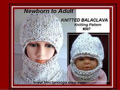 Hat Knitting Pattern   Balaclava  or hat by HatAndScarfPatterns, $4.99