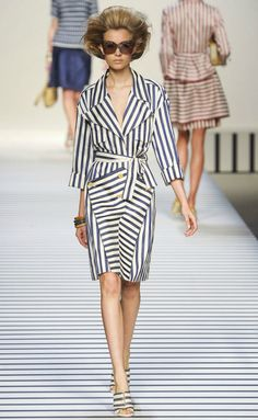 Fendi S/S 2012 I must own a striped jacket this season.