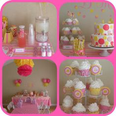 While we love pink and yellow anything, we especially love this Pink Lemonade-themed birthday bash!