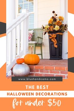 Halloween is right around the corner! Time to thinking about decorations! I've scoured the internet and found the best Halloween decorations for under $50! These ideas will have you screaming! #halloween #halloweendecor #decorateyourhome #halloweenideas