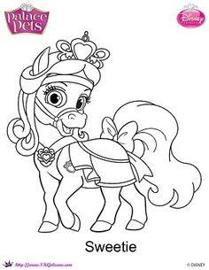 Sweetie is Snow White's pale blue pony. Her tail and mane are light blue. She has brown eyes and wears red and gold necklace with a red tiara and bow. This lovable pony will do anything for a…