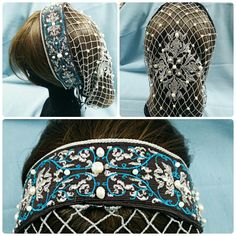 Retina con perle di fiume Mode Renaissance, Renaissance Costume, Renaissance Fashion, Tudor Fashion, Historical Costume, Historical Clothing, Headdress, Headpiece, Renaissance Hairstyles