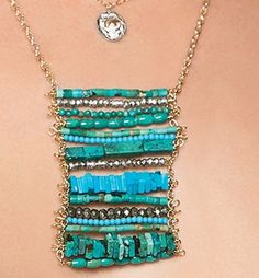 Turquoise Row Necklace