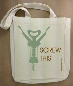 Now that's a wine bag that makes a statement! #wine