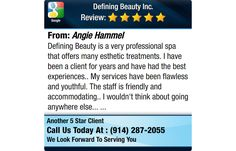 Defining Beauty is a very professional spa that offers many esthetic treatments. I have...