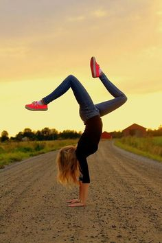a handstand (wish I could do it!)