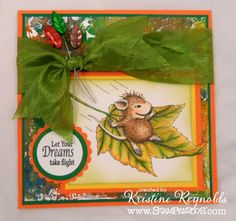 #Fall Flight #House Mouse #Stampendous #diy #Card