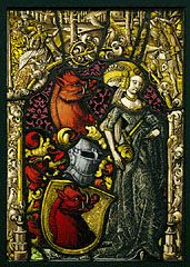 Heraldic Panel with the Arms of the Eberler Family, Swiss, c.1490. (The J Paul Getty Museum)