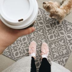 Sunday morning errands are done  and now time for coffee with Chuck outside before it rains. Again. ☔️ ps my favorite sneakers ever to exist are on sale. Link in my bio to shop all my instagrams.  #weekendmoments #ShopStyle #ssCollective #MyShopStyle #ootd #fallfashion #wearitloveit #currentlywearing #todaysdetails #lookoftheday #getthelook #fallstyle #cozy #athome