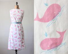 whale dress - 1960's pink whale dress. $95.00, via Etsy.
