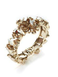 Rodrigo Otazu Champagne Crystal Cluster Bracelet