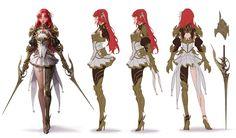 ArtStation - Crimson Elf, geumsil lee Vampire Queen, Female Characters, Elf, Concept Art, Character Design, Anime, Fantasy, Drawings, Artwork