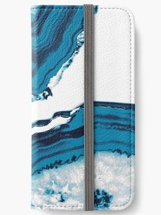 """Blue Agate #2 #gem #decor #art "" iPhone Wallets by anitabellajantz 
