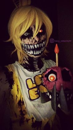 FNAF 4 Cosplay - Nightmare Chica by HazyCosplayer