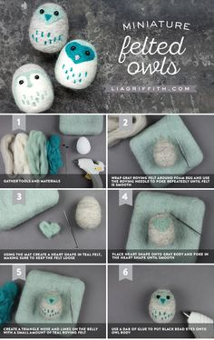 A hoot of a project!! How adorable are these tiny felt owls? Needle felting can be so simple and fun, with the help of our easy-to-follow tutorials...