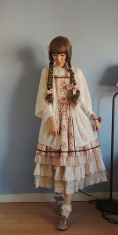 "victorianme: ""Yesterday's coord for Moss Märchen's Pink House brunch meet!"