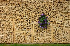 15 Spectacular Firewood Piles Too Pretty To Burn - Off Grid World Stacking Firewood, Stacking Wood, Firewood Rack, Firewood Storage, Garden Deco, Garden Bar, Wood Knife, Growing Greens, Garden In The Woods