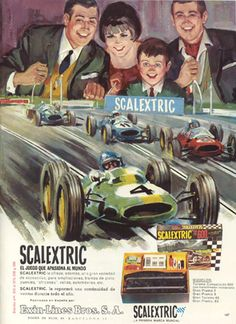 More classic scalextric print advertising slot car racing, slot car tracks, slot cars, Slot Cars, Slot Car Racing, Slot Car Tracks, Race Cars, Retro Advertising, Vintage Advertisements, Vintage Ads, Vintage Posters, Graphics Vintage