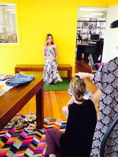 Awww that maxi! Sneaky shot of our gorgeous photographer Ilona!