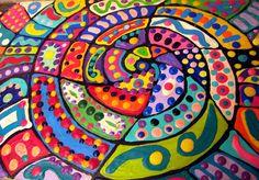 Pintando la espiral, fotografía de elycefeliz