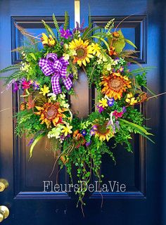 A personal favorite from my Etsy shop https://www.etsy.com/listing/222378947/new-xl-spring-wreath-spring-door-wreath