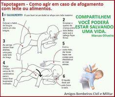 O que fazer quando um bebê engasga:
