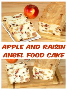 Apple and raisin angel food cake - isabell's kitchen