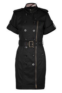 Burberry black trench dress