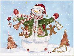 christmas snowman Shawn D Jenkins art