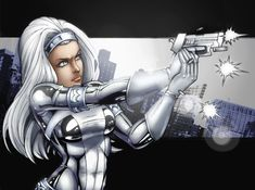 Silver Sable Colored Part 1 by JamieFayX.deviantart.com on @deviantART
