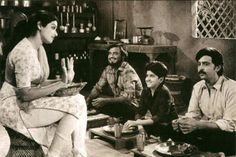 Hrithik Roshan in one of his earlier films Bhagwan Dada with his father, Rajnikanth and Sridevi