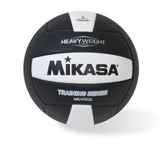 """Mikasa MGV500 Heavy Weight Volleyball (Official Size) by Mikasa. $41.83. A team lives and dies by its ability to set for the scorers. To aid in the development of that special skill, we present the """"Heavy Weight"""", part of the Mikasa Training Series. Weighted to 16 oz., it strengthens muscles and hones your accuracy without sacrificing the quality you expect from Mikasa Sports USA. The """"Heavy Weight"""" ball features a long-lasting cover and soft-built fabric center so you ..."""