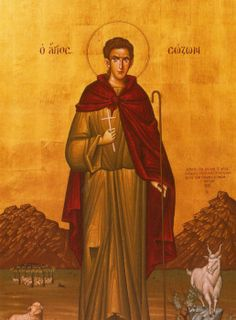 Science of the Saints, Sep.), Holy Martyr Sozon The Shepherd Orthodox Christianity, The Shepherd, Orthodox Icons, Holi, Worship, Saints, Blessed, Science, Painting