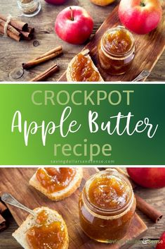 Crockpot Apple Butter makes it so easy to whip up a batch of homemade apple butter anytime you want some. Try this super easy recipe and you'll never want to go back to store bought again! Best Crockpot Recipes, Jam Recipes, Apple Recipes, Turkey Recipes, Cooker Recipes, Healthy Recipes, Butter Recipe, Butter Crock, Homemade Apple Butter