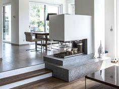 Interior Design Living Room, Living Room Designs, Living Room Partition, Warehouse Home, Ideas Hogar, Home Fireplace, Maine House, Family Room, Home Decor