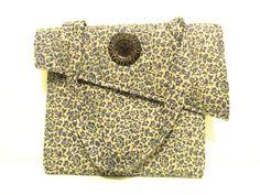 asymmetrical shoulder bag with large button  purse handbag